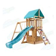 Игровая площадка BABYGARDEN с закрытым домиком, скалолазкой и горкой 2.4 м, фото 1