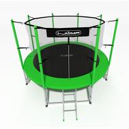 Недорогой уличный батут для дачи - i-JUMP 6FT GREEN, защитная сетка, мат, фото 1